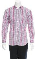 Comme des Garcons Plaid Button-Up Shirt