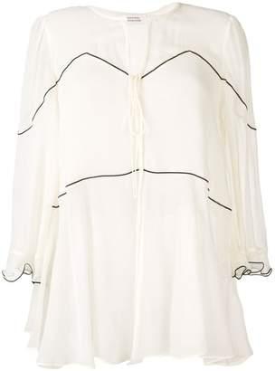 Schumacher Dorothee v-neck silk blouse