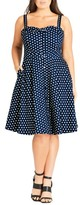 City Chic Plus Size Women's Bow Polka Dot Dress