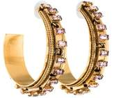 Erickson Beamon Crystal Hoop Earrings
