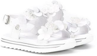 Florens Floral Glitter Applique Sandals
