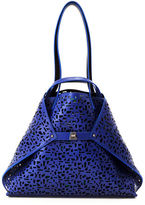 Akris Ai Medium Laser-Cut Leather Shoulder Bag