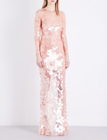 Givenchy Sequinned fishnet-mesh gown