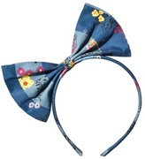 No Added Sugar Floral and Check Large Bow Headband