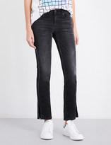 Diesel Ankle-split straight mid-rise jeans