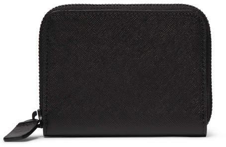Common Projects Zip-around Cross-grain Leather Wallet - Black