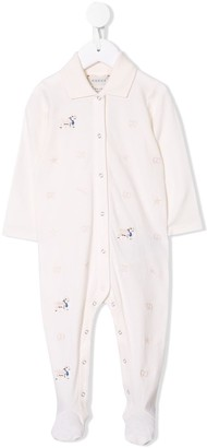 Gucci Kids Lamb Embroidered Pajamas