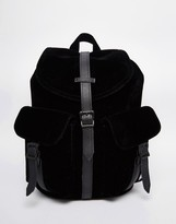 Herschel Dawson Micro Velvet Backpack with Leather Trim