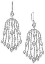 Kate Spade Silver-Tone Imitation Pearl Chandelier Earrings