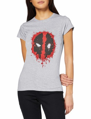 Marvel Women's Deadpool Splat Face T-Shirt
