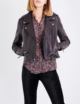 Paige Danette leather biker jacket