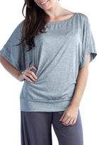 24/7 Comfort Apparel 3/4-Dolman-Sleeve Banded Top