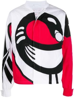 Pyer Moss x patterned bomber jacket