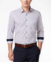 Tasso Elba Men's Plaid Sateen Long-Sleeve Shirt, Classic Fit