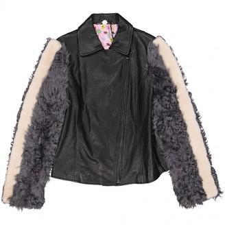 CHARLOTTE SIMONE Black Leather Jackets