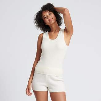 Naadam Cashmere Ribbed Tank Top White