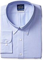 Eagle Men's Non Iron Flex Collar Big Stripe Buttondown Collar Dress Shirt