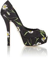 Dolce & Gabbana WOMEN'S DAISY BROCADE PLATFORM PUMPS