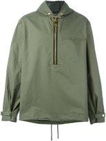 Palm Angels oversized zip hooded jacket - men - Cotton - L