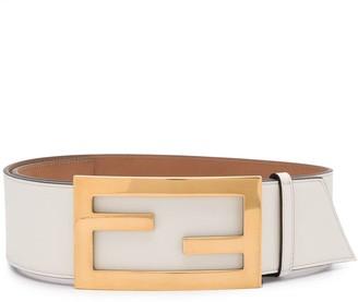 Fendi Logo-Buckle Leather Belt