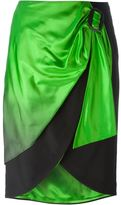 Maison Margiela asymmetric wrap skirt - women - Silk/Acetate - 40