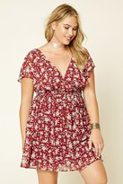 Forever 21 FOREVER 21+ Plus Size Belted Floral Dress