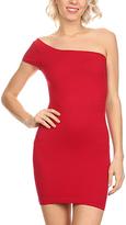 Red One-Shoulder Bandage Dress