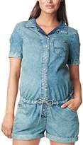 Noppies Women's Boyfriend Maternity Dungarees - Blue -
