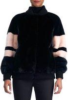 Gorski Colorblock Mink Fur Pullover