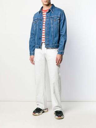 Giorgio Armani Pre Owned 1990's logo print loose jeans