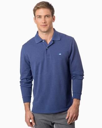 Southern Tide Heathered Skipjack Long Sleeve Polo Shirt