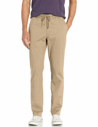 "Goodthreads Straight-fit Washed Chino Drawstring Pant Beige (Khaki) ((size: XXX-Large/28"" Inseam)"