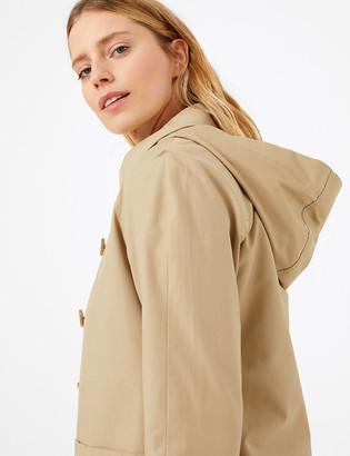 Marks and Spencer Cotton Hooded Car Coat