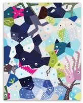 Nurseryworks Nursery Works Oceanography Cubist 16-Inch x 20-Inch Wall Art
