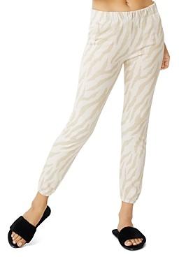 Monrow Zebra Print Chill Jogger Pants