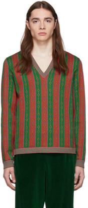 Gucci Red Wool Horsebit Sweater