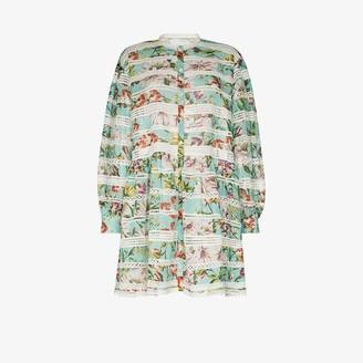 Dolce & Gabbana Floral lace shirt dress