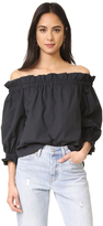 Liv Off the Shoulder Poplin Top