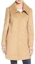 Larry Levine Women's Foldover Collar Walker Coat
