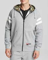 Nike Striped Hooded Sweatshirt
