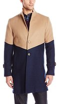 Carlos Campos Men's Colorblock Overcoat