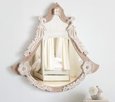 Pottery Barn Kids Shaped Carved Floral Mirror