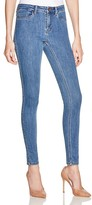 Noisy May Lucy Slim Jeans in Medium Blue Denim