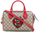 Gucci snake and heart patch tote