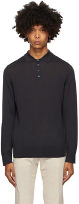 Ermenegildo Zegna Navy Wool Knit Polo