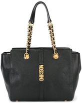 Moschino double chain strap shoulder bag - women - Leather - One Size
