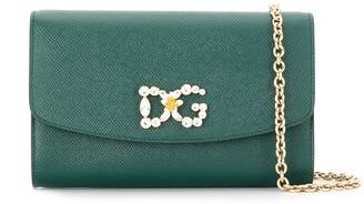 Dolce & Gabbana Crystal-Embellished Logo Bag
