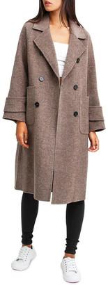 Belle & Bloom Rumor Has It Walnut Oversized Wool Blend Coat
