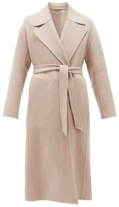 BEIGE Another Tomorrow - Double-breasted Merino-wool Midi Coat - Womens