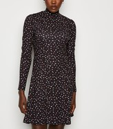 New Look Abstract Spot Soft Touch Mini Dress
